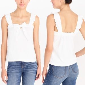 NEW✨J. Crew Factory White Bow Tank Top